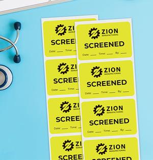 Screened stickers